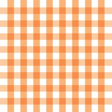 Checkered Orange And White Che...