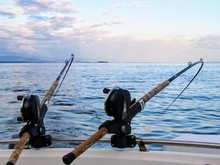 Two Fishing Rods Held In Fishi...
