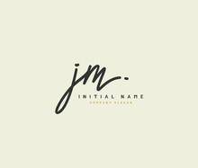J M JM Beauty Vector Initial L...