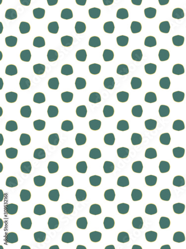 seamless polka dots pattern - 309532168