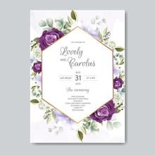 Hand Drawn Floral Wedding Invi...