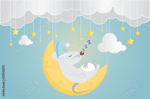Sweet dream and Good night concept Background Fotobehang