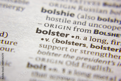 Word or phrase Bolster in a dictionary. Canvas Print