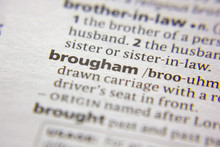 Word Or Phrase Brougham In A D...