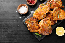 Grilled Chicken Thighs With Sp...