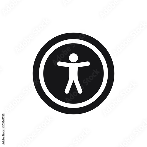 Universal accessibility sign. vector illustration Wallpaper Mural