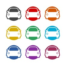 Car Color Icon Set Isolated On White Background