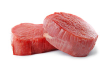 Fresh Raw Beef Cut Isolated On...
