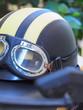 motorcycle helmet with separate pair of glasses