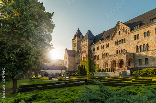 The Imperial Castle in Poznan, popularly called Zamek, a palace in Poznan, Poland. View from the garden.