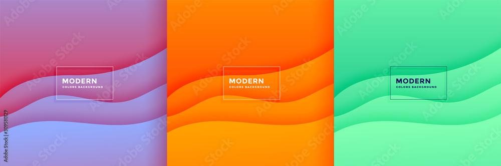 Fototapeta abstract minimal wave papercut background set design