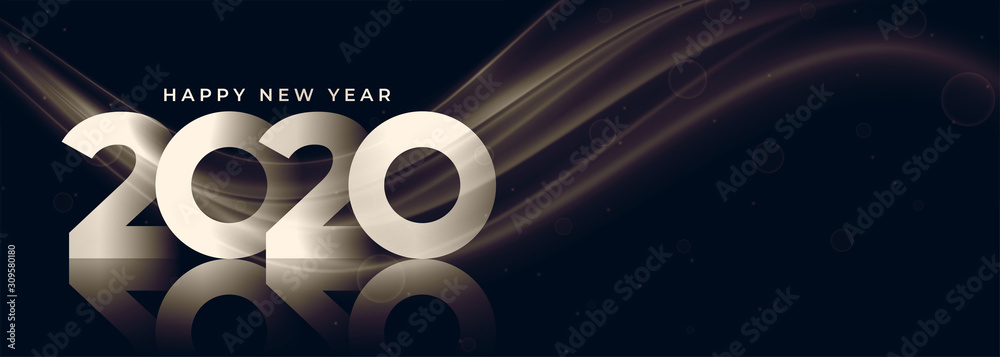 Fototapeta 2020 new year banner with text space design