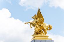 Golden Pegasus Statue At The P...