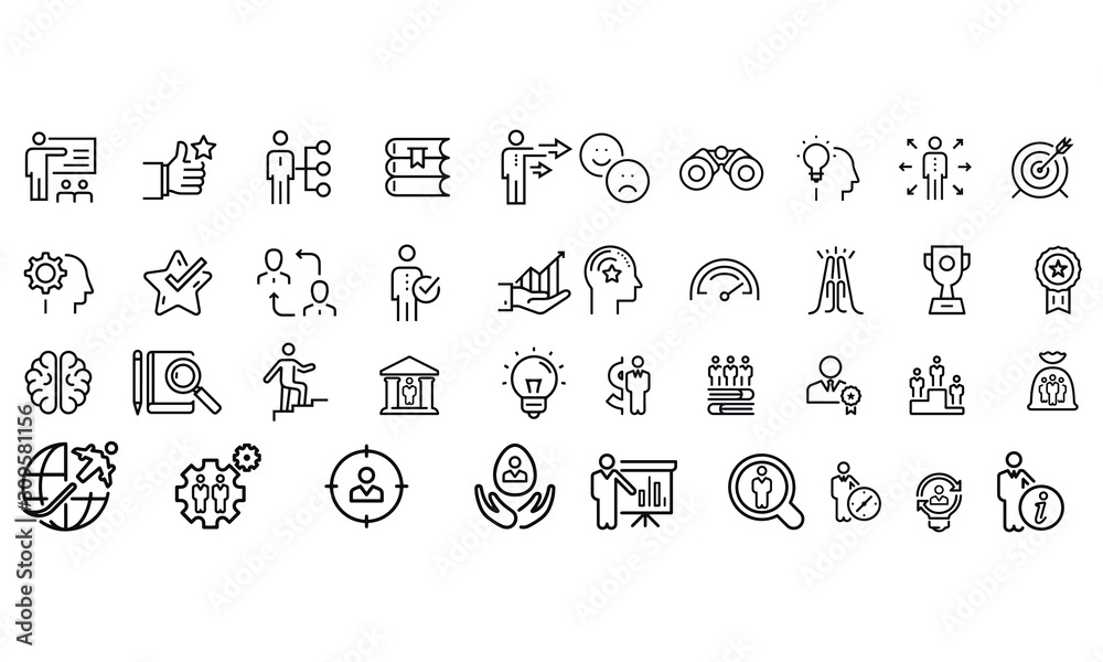 Fototapeta Mentoring and Training Related icons Vector design