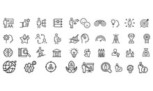 Mentoring And Training Related Icons Vector Design