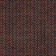 canvas print picture - Seamless texture of clinker brick wall flemish bond. Stuttgart. Germany.