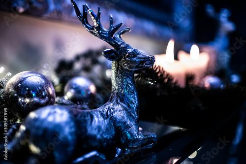 Obraz Boże Narodzenie, Renifer, Dekoracje - fototapety do salonu