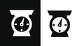 cooking Kitchen Utensil Icons vector design black and white