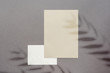 Empty eco paper sheets brown bg shadow overlay
