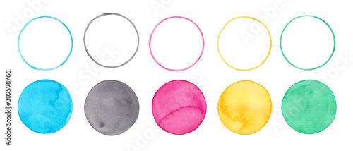 オリンピック五輪カラー、水彩まるのグラフィック素材、 Tapéta, Fotótapéta