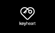 Key Heart Logo Design Template