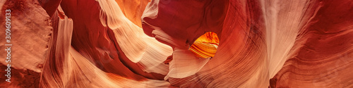 Panoramic Canyon Antelope, slot canyon near Page, Arizona, America Fototapet