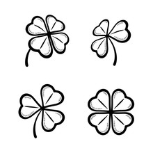 Leaf Clover Set. Collection Ic...