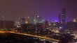 Guangzhou overpass roads among buildings in China timelapse zoom out