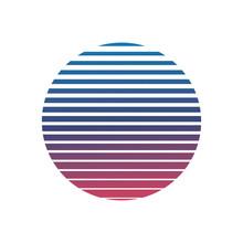 Purple Abstract Round Logo. Ve...