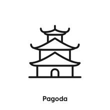 Pagoda Icon Vector. Pagoda Ico...