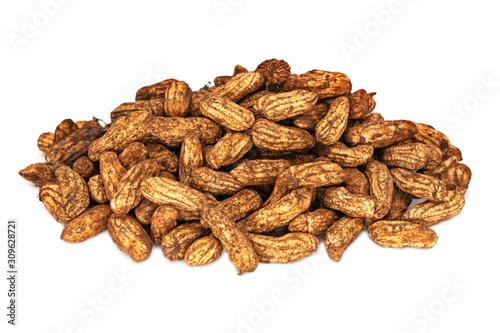 Erdnüsse frisch geerntet Canvas Print