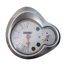Motorcycle Speedometer And Fuel Gauge On White Background