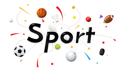 Fototapeta Sport Sports poster design. Vector colored sport background.