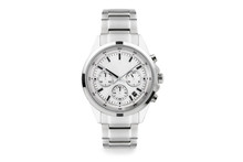 Luxury Watch Isolated On White Background. With Clipping Path For Artwork Or Design. White.