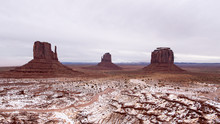 West Mitten Butte, East Mitten Butte, And Merrick Butte At Monument Valley
