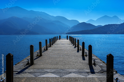 Beautiful landscape at Sun moon lake in Taiwan.