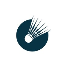 Badminton Shuttlecock Icon. Vector Illustration