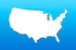 Blue USA map background