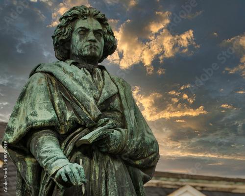 Bonn - Beethoven Statue Canvas Print