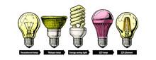 Evolution Set Of Light Bulb