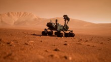 A Rover During A Dust Storm On...