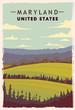 Maryland retro poster. USA Maryland travel illustration. United States of America
