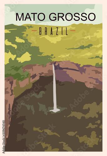 Fotografija Mato Grosso retro poster