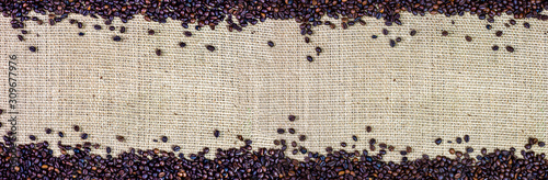 roasted-coffee-beans-on-jute-fabric-background-panorama-banner