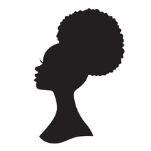 Black Woman With Puff Drawstri...