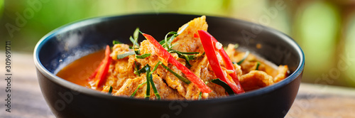 thai panang curry in bowl with pork Fototapete