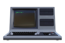 Retro Desktop Computer Isolate...