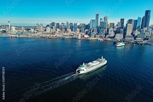 Fotografia, Obraz Ferries in Seattle