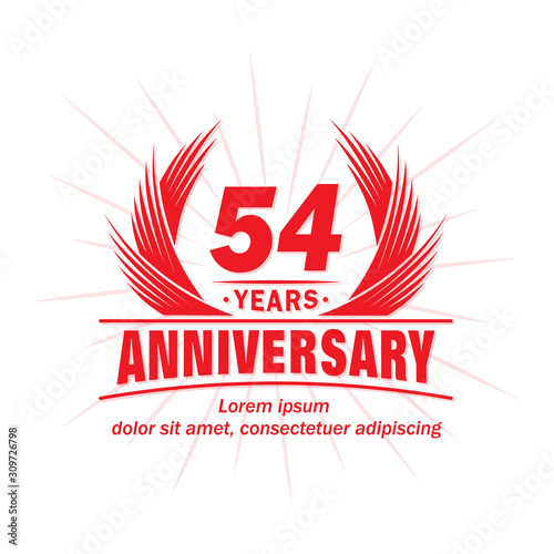 Photo 54 years logo design template