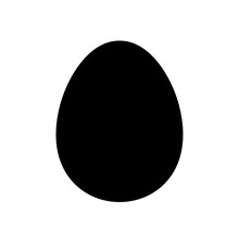 Egg Simple Icon Design, Vector...